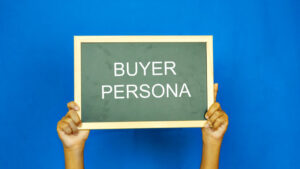 """business concept- black board with word """"Buyer Persona"""""""